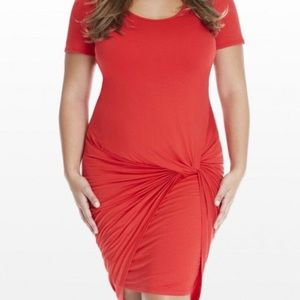 Fashion to Figure Red knotted dress